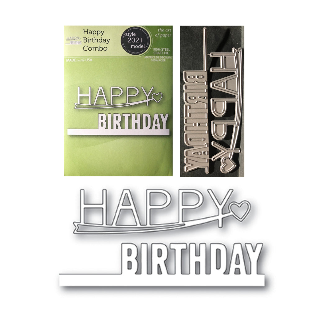 Happy Birthday Combo Die Cut Set by Poppystamps Dies 2021 - Inspiration Station Scrapbook Store & Retreat
