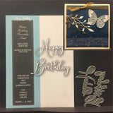 Happy Birthday Friendship Script Metal Die Cut Set by Memory Box Dies 99641 - Inspiration Station Scrapbook Store & Retreat