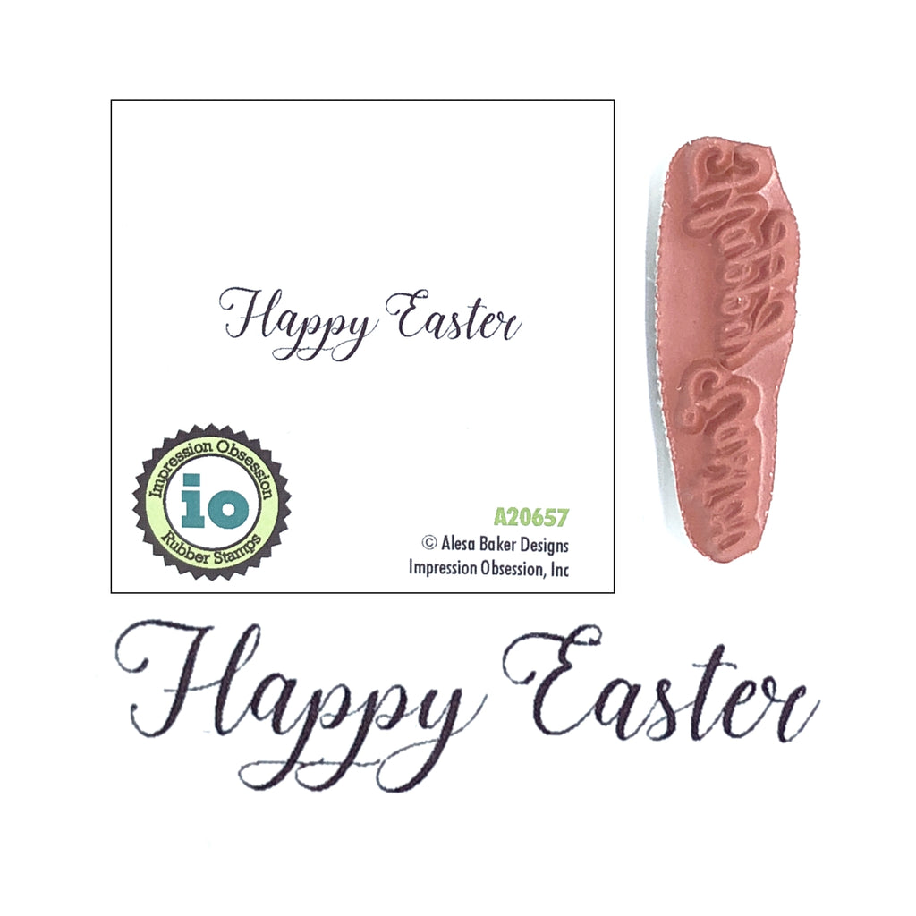 Happy Easter Stamp by Impression Obsession Stamps A20657 - Inspiration Station Scrapbook Store & Retreat