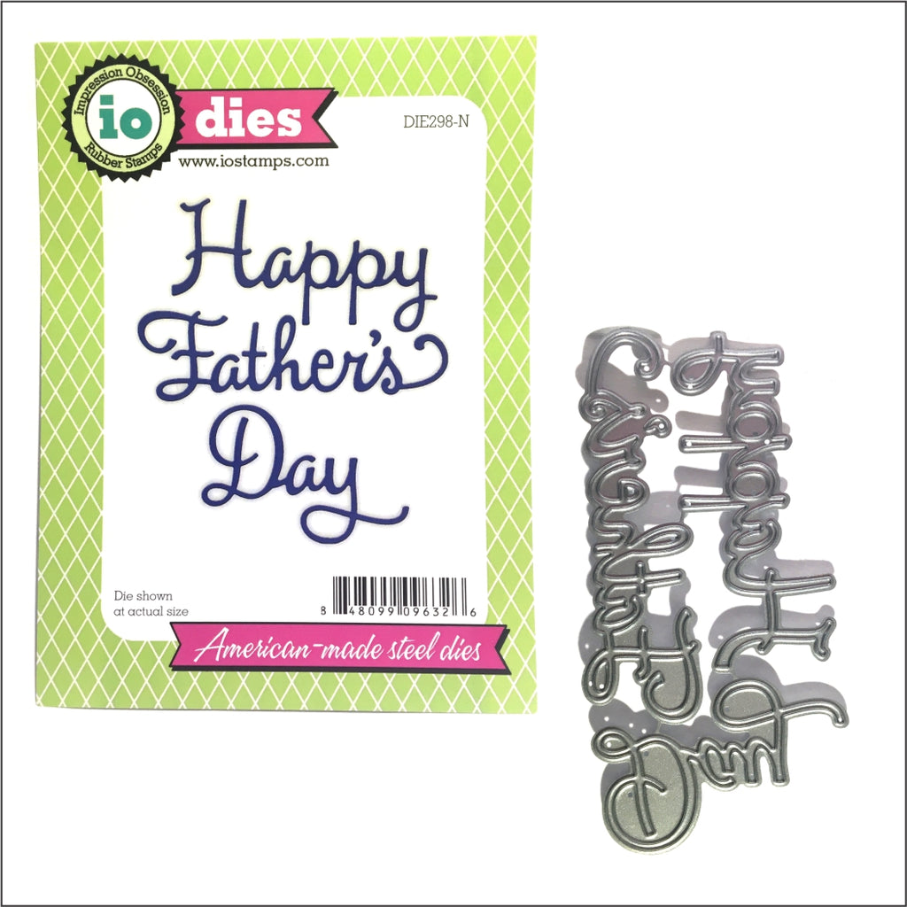 Happy Father's Day Word Die Cut Set by Impression Obsession Dies DIE298-N - Inspiration Station Scrapbook Store & Retreat