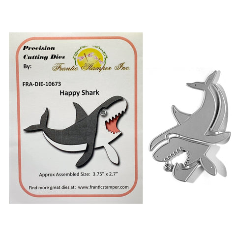 Happy Shark Metal Die Cut Set by Frantic Stamper Dies FRA-DIE-10673 - Inspiration Station Scrapbook Store & Retreat