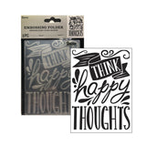 Happy Thoughts Embossing Folder by Darice Embossing Folders 30041289 - Inspiration Station Scrapbook Store & Retreat