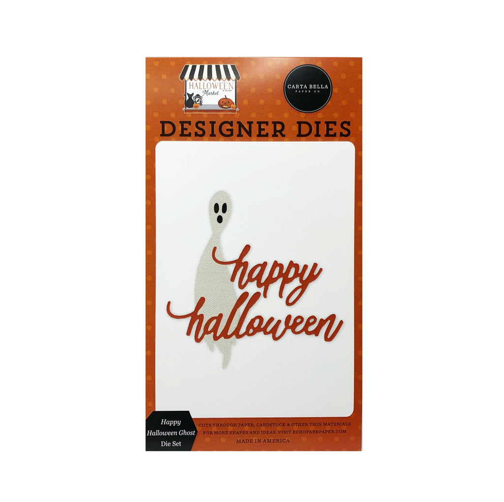 Happy Halloween Ghost metal die set by Carta Bella craft dies