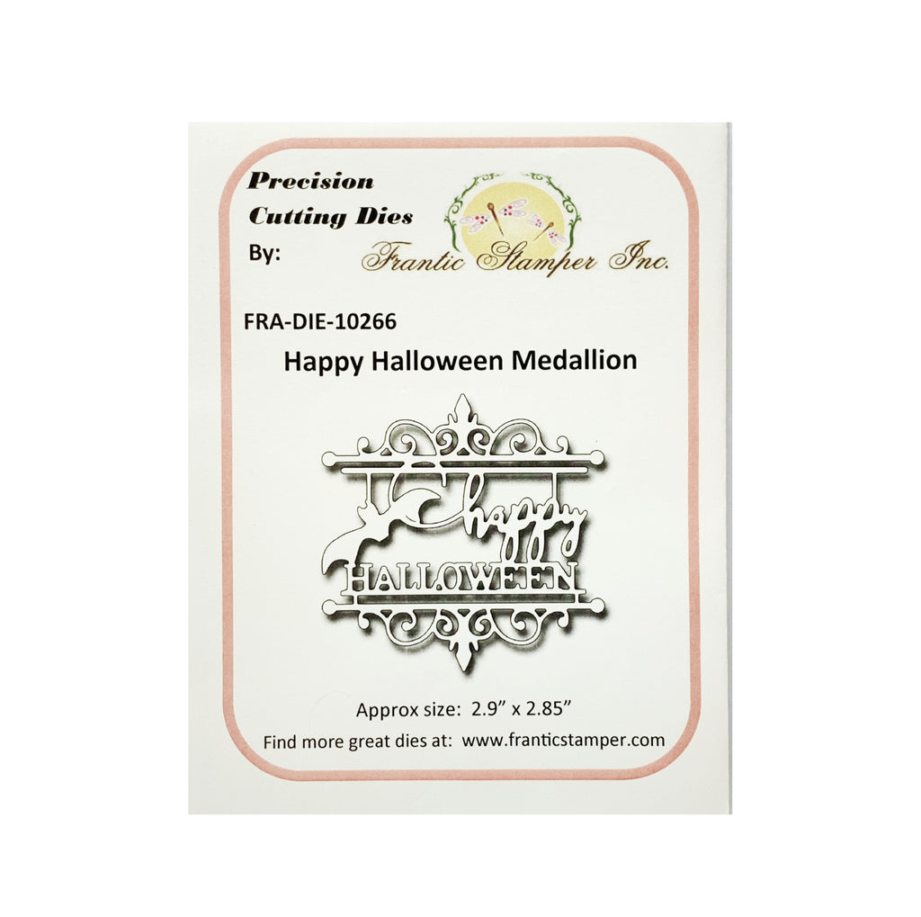 Happy Halloween Medallion Metal Die by Frantic Stamper Dies FRA-DIE-10266