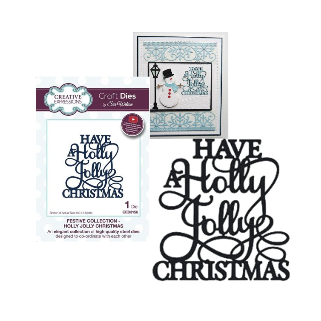 Have A Holly Jolly Christmas Metal Cutting Die by Creative Expressions Dies CED3156 - Inspiration Station Scrapbook Store & Retreat