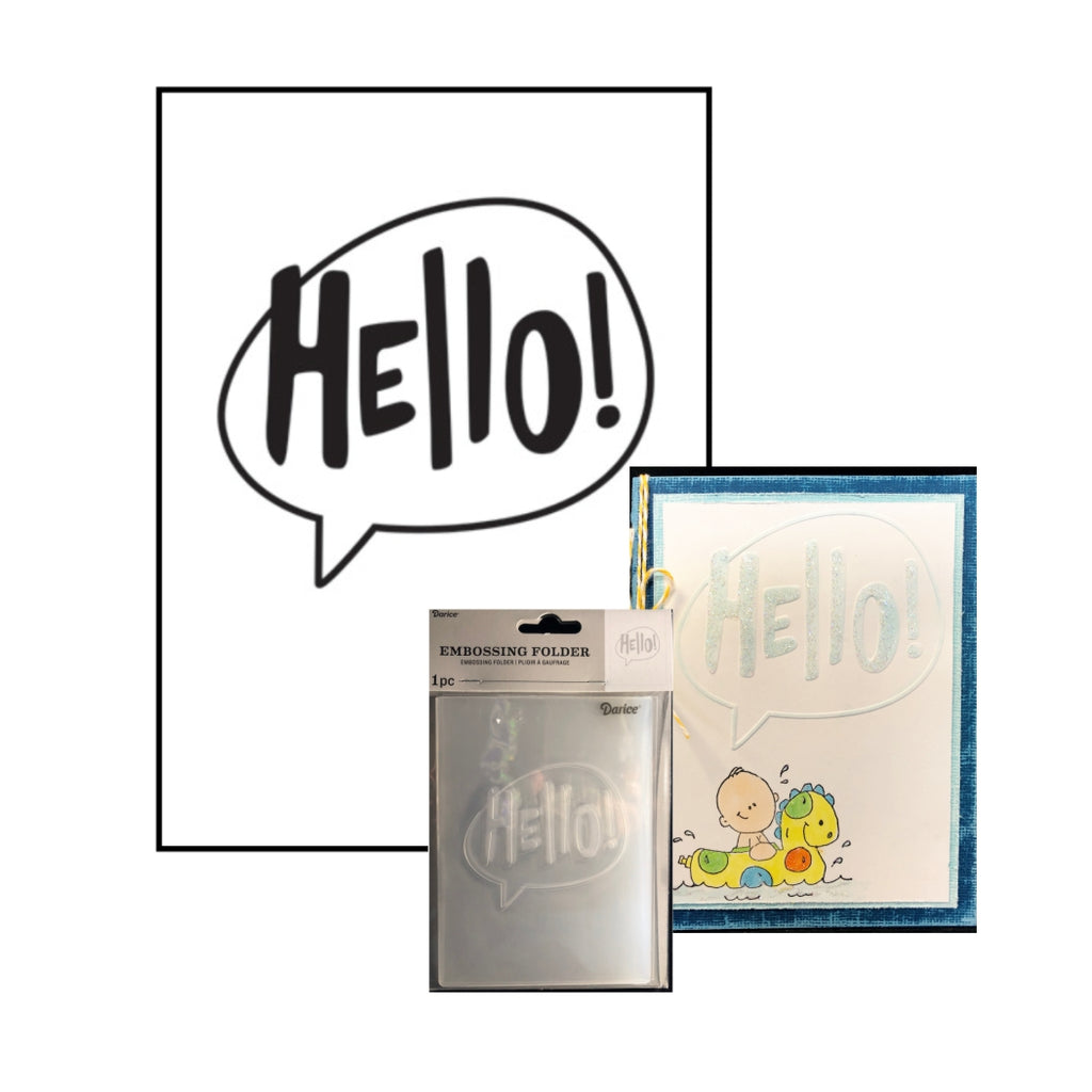 Hello (Word Bubble) Embossing Folder by Darice Embossing Folders 30032601 - Inspiration Station Scrapbook Store & Retreat