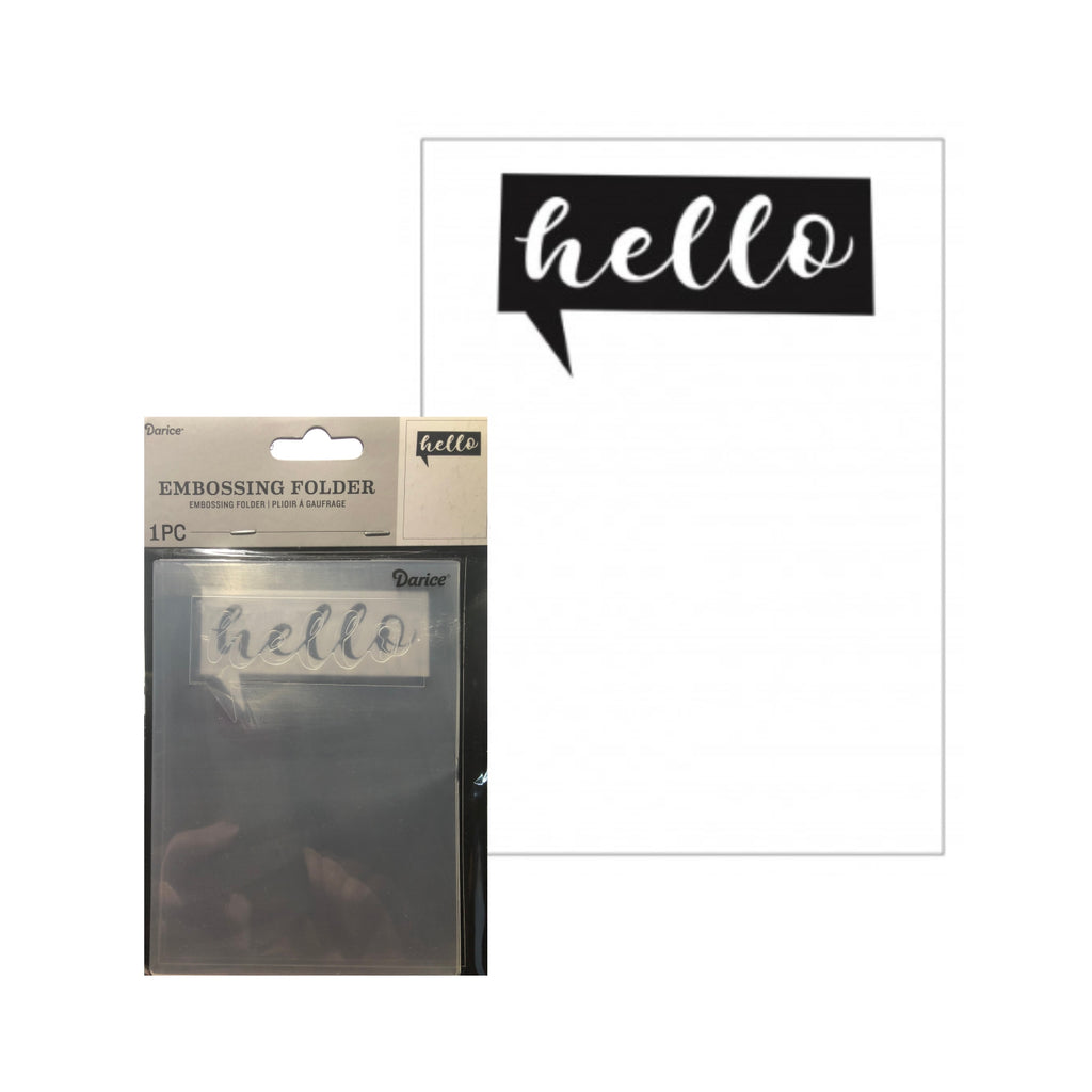 Hello (Talk Bubble) Embossing Folder by Darice Embossing Folders 30041270 - Inspiration Station Scrapbook Store & Retreat