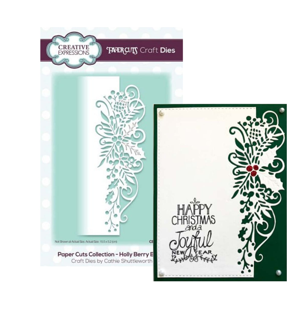 Holly Berry Edger Metal Die by Creative Expressions CEDPC1049 - Inspiration Station Scrapbook Store & Retreat