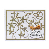 Holly Card Panel Die by Frantic Stamper Dies FRA-DIE-09289 - Inspiration Station Scrapbook Store & Retreat