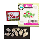 Holly Leaf Cluster Metal Die Set by Impression Obsession Dies DIE098-A - Inspiration Station Scrapbook Store & Retreat