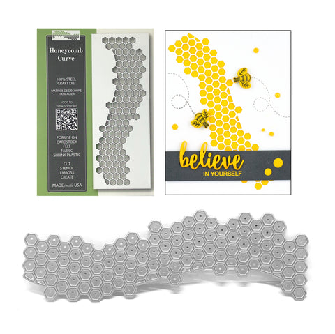Honeycomb Curve Die Cut by Memory Box Dies 1791 - Inspiration Station Scrapbook Store & Retreat