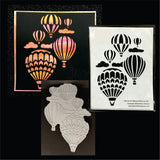 Hot Air Balloons Reverse Cut Metal Die by Serendipity Dies 064 - Inspiration Station Scrapbook Store & Retreat