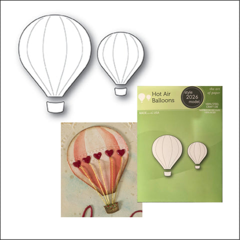 Hot Air Balloons Metal Die by Poppystamps Cutting Dies 2026 - Inspiration Station Scrapbook Store & Retreat