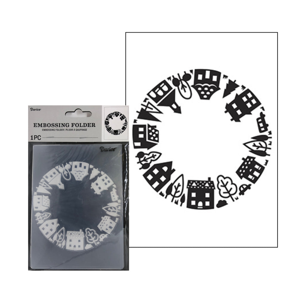 House Circle Embossing Folder By Darice Embossing Folders 30041287 - Inspiration Station Scrapbook Store & Retreat