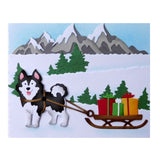 Husky Dog With Sled Metal Die Set by Cottage Cutz craft dies CC-709