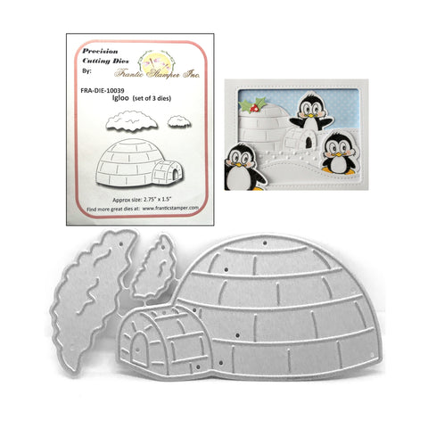 Igloo Metal Die Set by Frantic Stamper Dies FRA-DIE-10039 - Inspiration Station Scrapbook Store & Retreat
