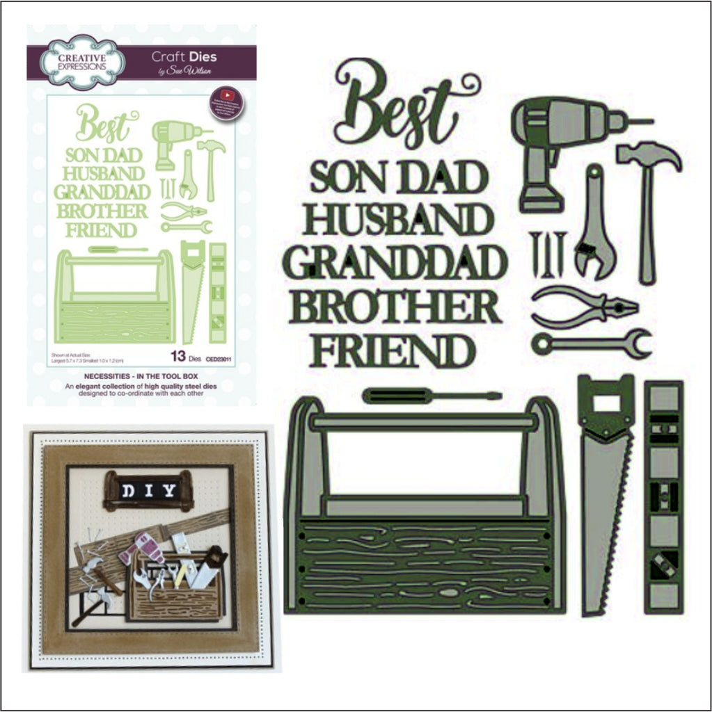 In The Tool Box Die Cut Set by Sue Wilson for Creative Expressions Craft Dies CED23011 - Inspiration Station Scrapbook Store & Retreat