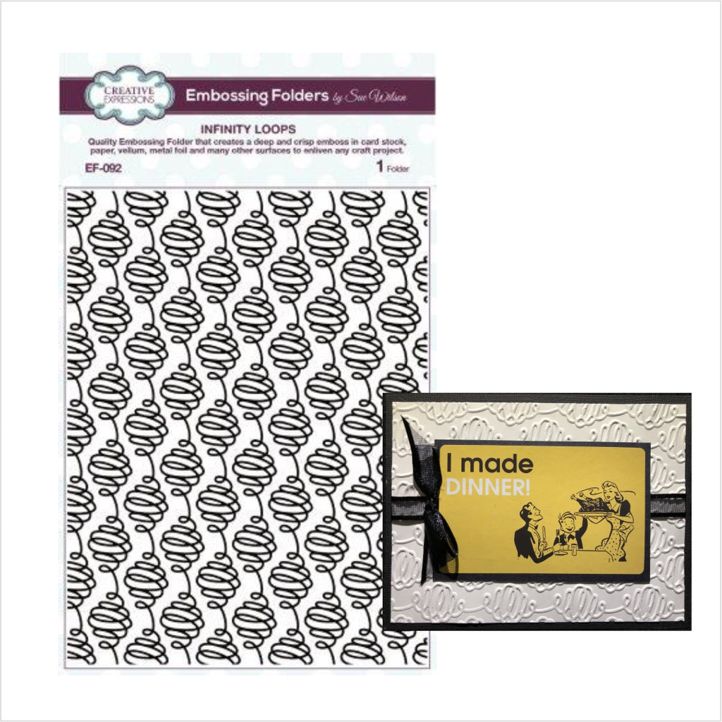 Infinity Loops Embossing Folder by Creative Expressions Folders EF-092 - Inspiration Station Scrapbook Store & Retreat