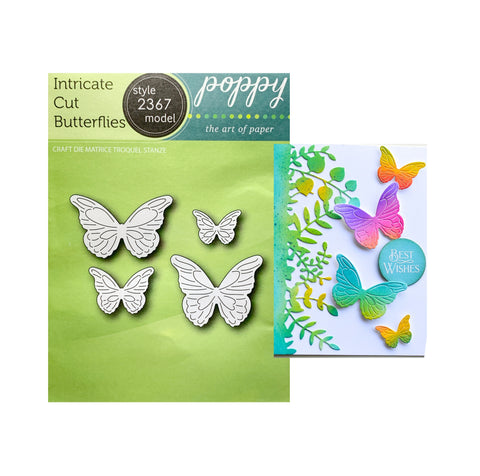 Intricate Cut Butterflies metal die cuts by Poppystamps Craft Dies 2367