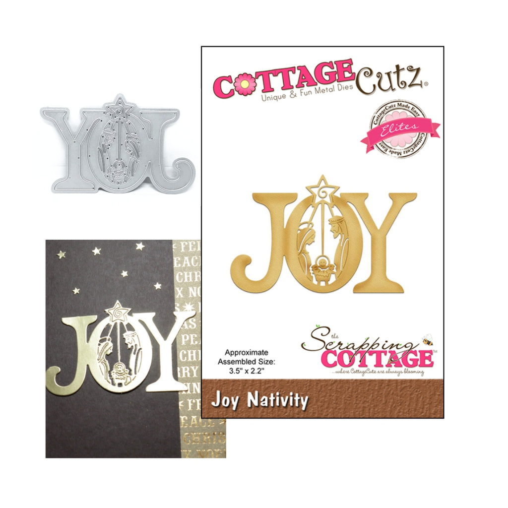 Joy Nativity Metal Die by Cottage Cutz Dies CCE-475 - Inspiration Station Scrapbook Store & Retreat