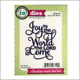 Joy To The World Metal Die Cut by Impression Obsession Dies DIE462-R - Inspiration Station Scrapbook Store & Retreat