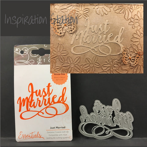 Just Married Metal Die by Tonic Studios Dies 1415E - Inspiration Station Scrapbook Store & Retreat