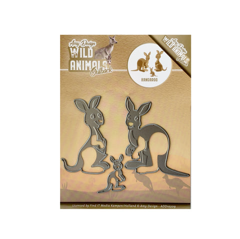 Kangaroo Wild Animals Outback Metal Die Cut by Amy Design Dies ADD10209