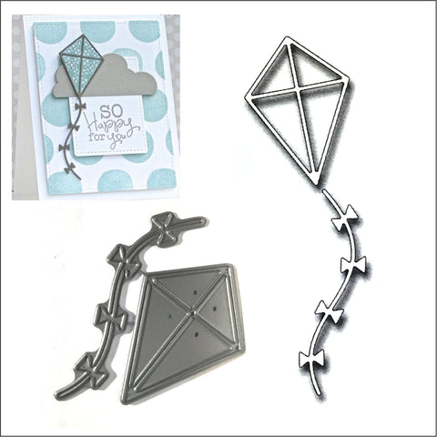 Kite Die Cut By Frantic Stamper Dies FRA-DIE-09923 - Inspiration Station Scrapbook Store & Retreat