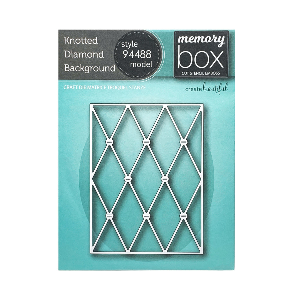 Knotted Diamond Background metal die cut by Memory Box cutting dies 94488