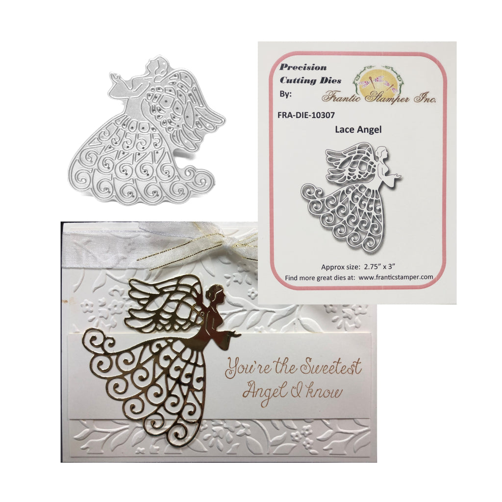 Lace Angel Steel Craft Die by Frantic Stamper FRA-DIE-10307 - Inspiration Station Scrapbook Store & Retreat