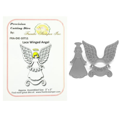 Lace Winged Angel Steel Craft Die Set by Frantic Stamper FRA-DIE-10711 - Inspiration Station Scrapbook Store & Retreat