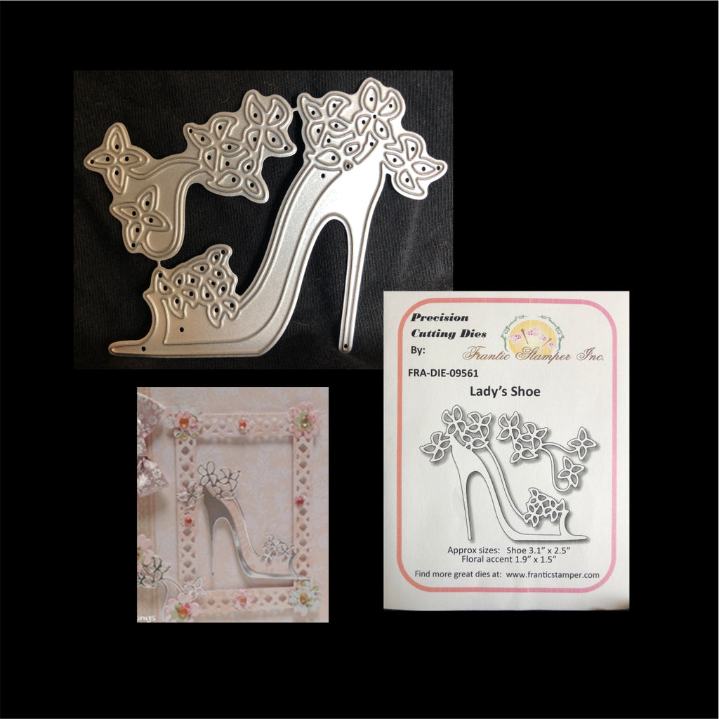Lady's Shoe Metal Die Set by Frantic Stamper Dies FRA-DIE-09561 - Inspiration Station Scrapbook Store & Retreat