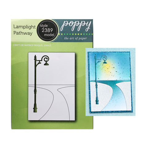 Lamplight Pathway Die Cut Set by Poppystamps Dies 2389