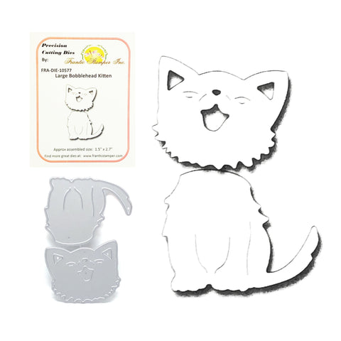 Large Bobble Head Kitten Die Cut Set by Frantic Stamper Metal Dies FRA-DIE-10577 - Inspiration Station Scrapbook Store & Retreat