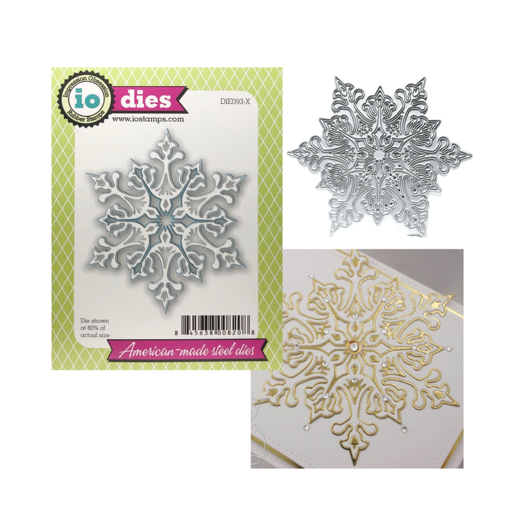 Large Snowflake Metal Die by Impression Obsession Cutting Dies DIE093-X - Inspiration Station Scrapbook Store & Retreat