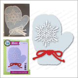 Large Snowflake Mitten Die Cut by Impression Obsession Dies DIE025-ZZ - Inspiration Station Scrapbook Store & Retreat