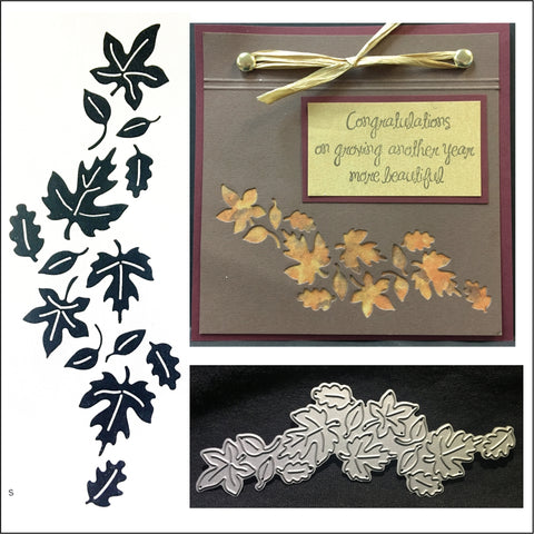 Leaves Reverse Metal Die Set by Serendipity Dies 078 - Inspiration Station Scrapbook Store & Retreat