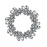 "Leaves Wreath 5"" x 5"" Embossing Folder by Nellie Snellen EFE031 - Inspiration Station Scrapbook Store & Retreat"