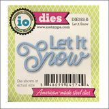 Let It Snow Metal Die Cut by Impression Obsession Dies DIE593-B - Inspiration Station Scrapbook Store & Retreat