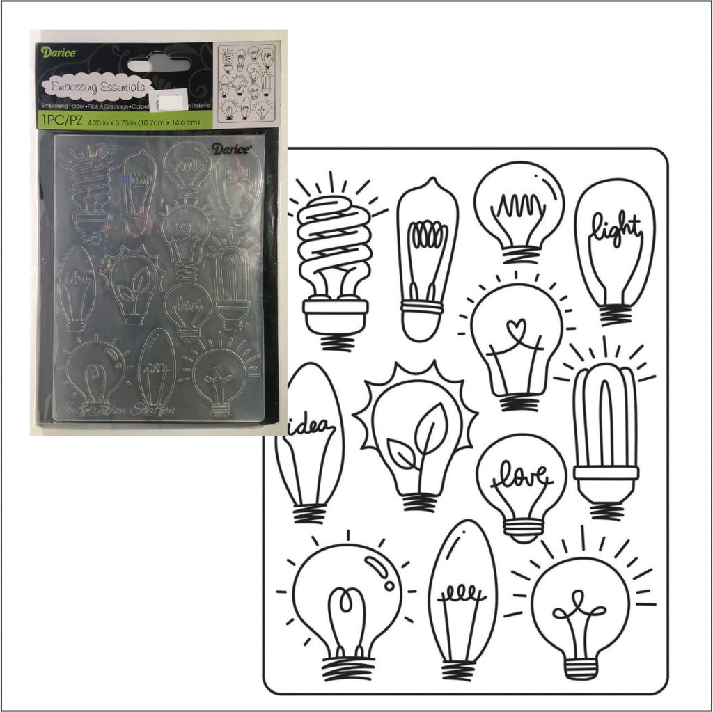Light Bulbs Embossing Folder by Darice Embossing Folders 30023116 - Inspiration Station Scrapbook Store & Retreat