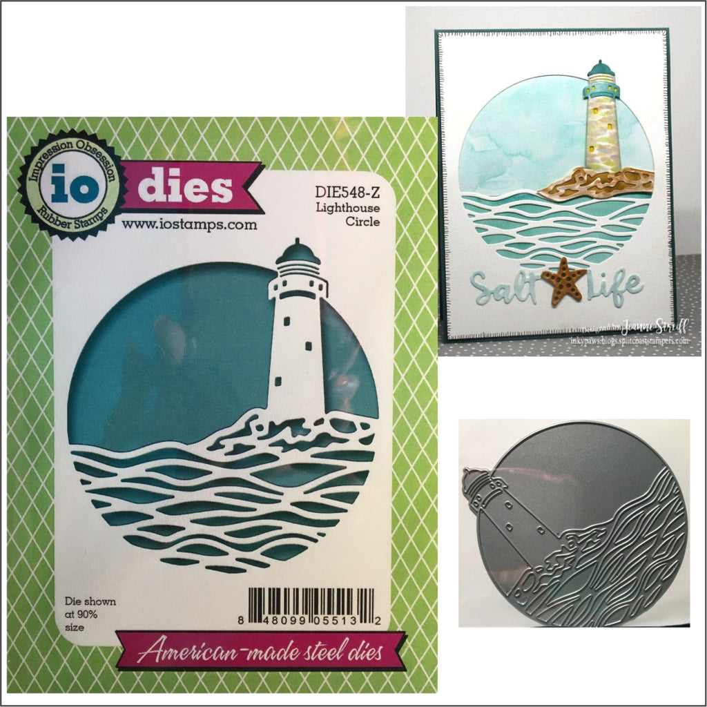 Lighthouse Circle Die Cut By Impression Obsession Die548 Z