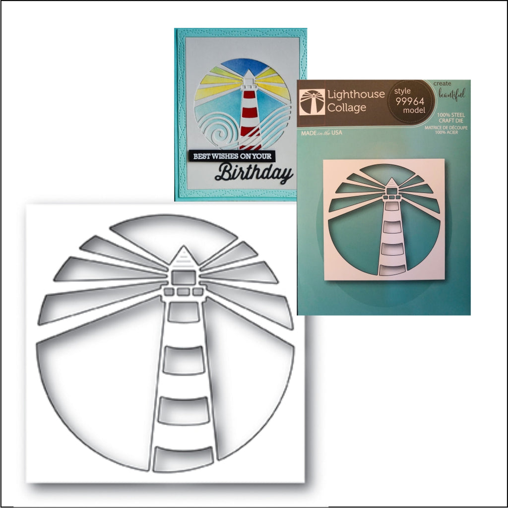 Lighthouse Collage Metal Die Cut by Memory Box Dies 99964 - Inspiration Station Scrapbook Store & Retreat