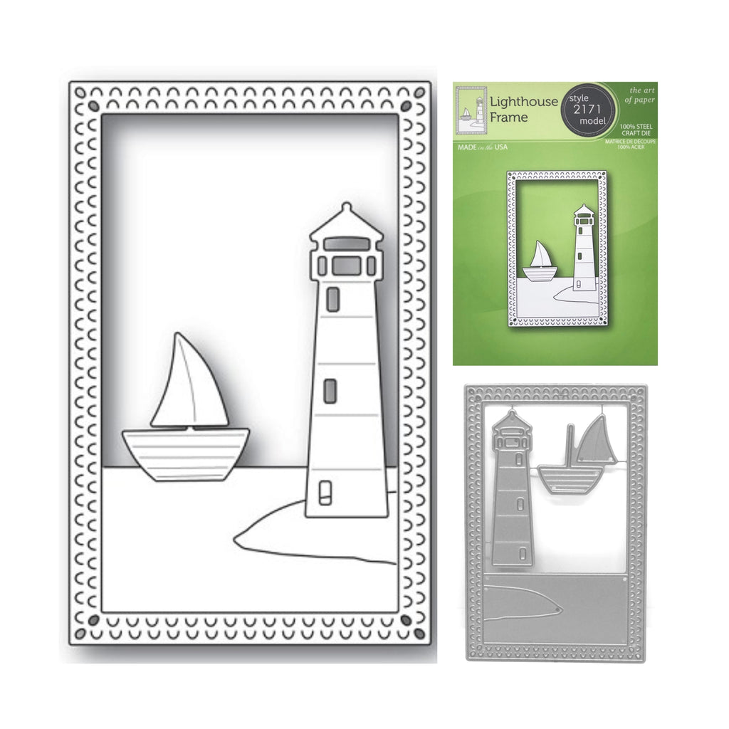 Lighthouse Frame Metal Die Cut by Poppystamps Dies 2171 - Inspiration Station Scrapbook Store & Retreat