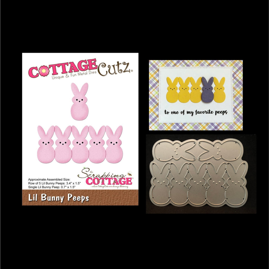 Lil Bunny Peeps Thin Metal Die Cut Set by Cottage Cutz Dies CC-416 - Inspiration Station Scrapbook Store & Retreat