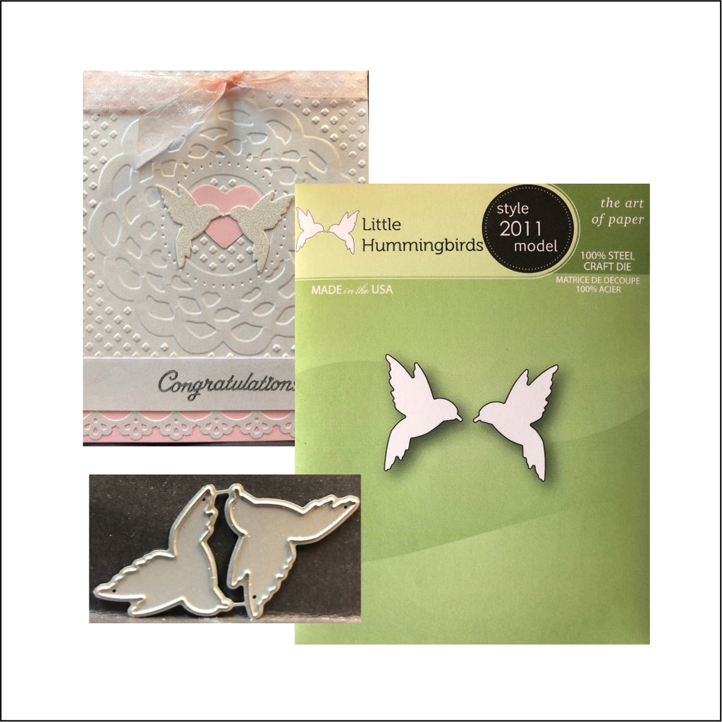 Little Hummingbirds metal die set by Poppystamps Dies 2011 - Inspiration Station Scrapbook Store & Retreat