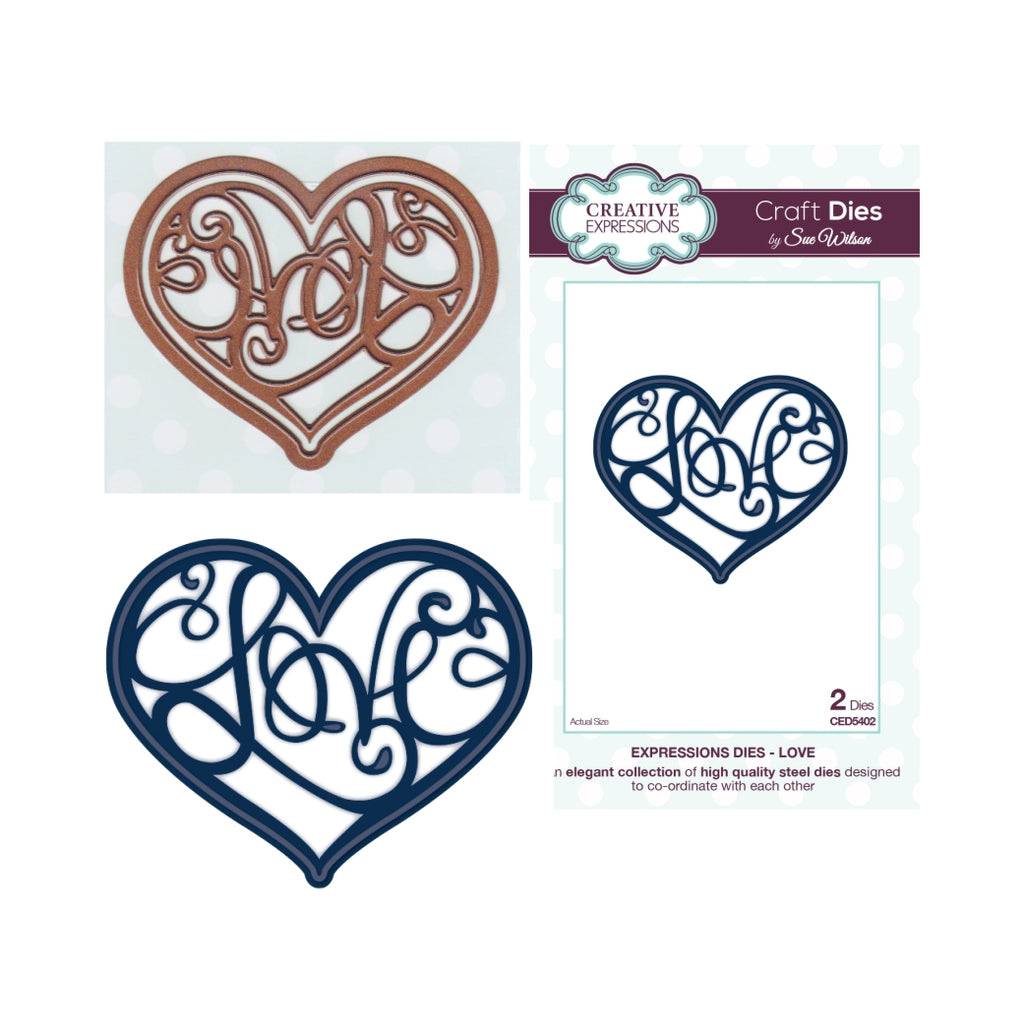 Love Thin Metal Die by Sue Wilson for Creative Expressions Dies CED5402 - Inspiration Station Scrapbook Store & Retreat