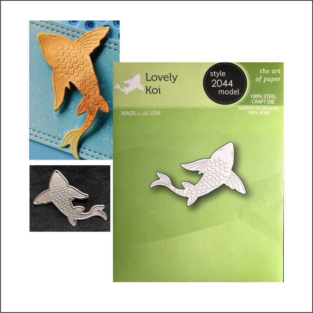 Lovely Koi Die Cut by Poppystamps Dies 2044 - Inspiration Station Scrapbook Store & Retreat