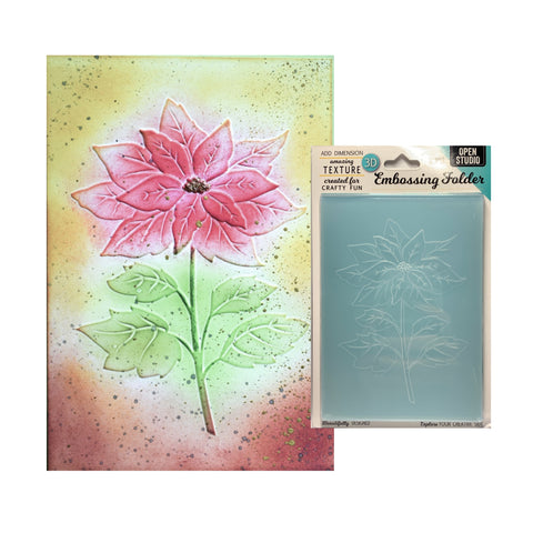 Magnificent Poinsettia 3D Embossing Folder by Memory Box craft folders EF1011