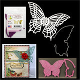 Majestic Butterfly with Angel Wing Solid Die by Cherry Lynn Metal Dies B534