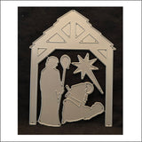 Manger Die Cut Set by Impression Obsession Dies DIE199-YY - Inspiration Station Scrapbook Store & Retreat